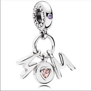 PANDORA Dangle Charm Perfect Mom Sterling Silver